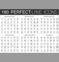 180 modern thin line icons set business vector