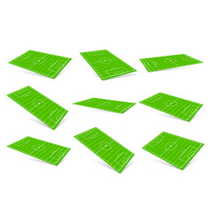 3d soccer fields - soccer fields in different vector