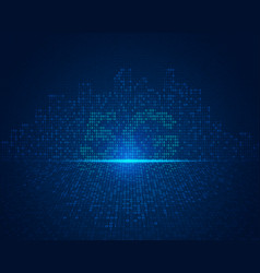 5g city vector image