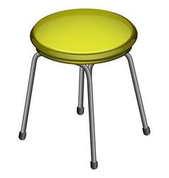 A steel chair vector