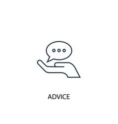 Advice concept line icon simple element vector