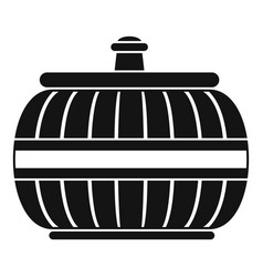 Asia vase icon simple style vector