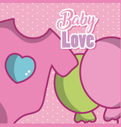 Baby love cartoons vector