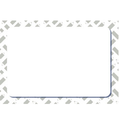 blank white frame on background with set of cute vector image