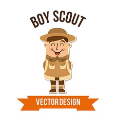 Boy scout vector