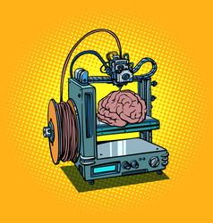 Brain biotechnology medicine printing human organs vector