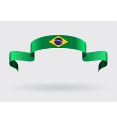 Brazilian flag background vector image
