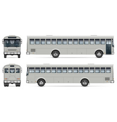 bus isolated mockup side front back view vector image