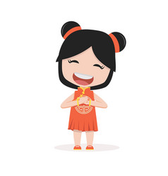 chinese children holding sign vector image