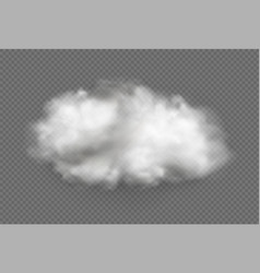 cloud fog smoke urban smog vector image