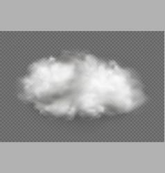 Cloud fog smoke urban smog vector
