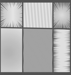 comic book gray template vector image