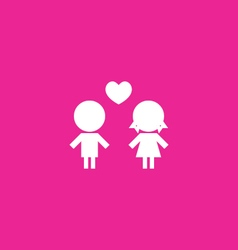 Couples Icon background vector
