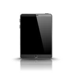 Dark modern tablet computer with black screen vector image