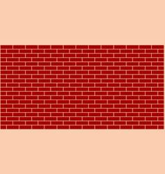 dark red brick wall background vector image