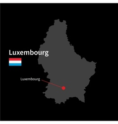 detailed map luxembourg and capital city vector image
