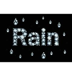 Diamond Word Rain vector
