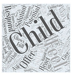Do You Listen to your Child Word Cloud Concept vector image