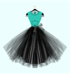 Dress with for special event vector