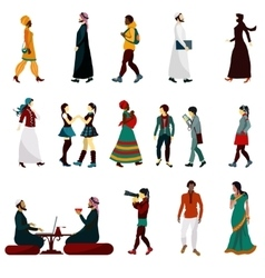 Eastern People Set vector