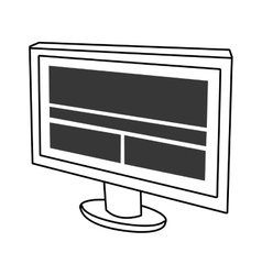 Electronic device screen with stripes and squares vector