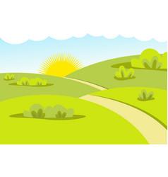 Flat landscape nature vector