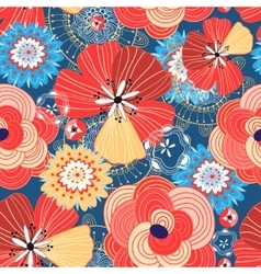 Flower bright pattern vector image