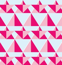 Geometric pink seamless pattern - flat design vector image