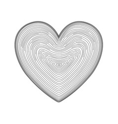 heart icon hand drawn like fingerprint print vector image