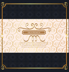 High premium quality golden frame vector