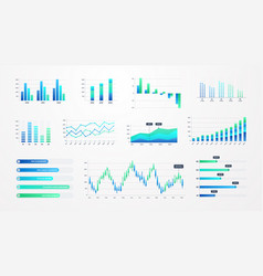 histogram charts business infographic template vector image