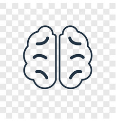 Human brain concept linear icon isolated on vector