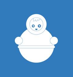 Icon russian doll vector