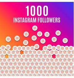 Instagram 1k followers likes celebration vector