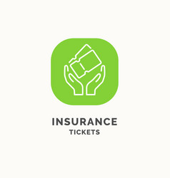 insurance tickets during the journey vector image