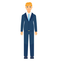 Isolated cartoon character office worker man vector