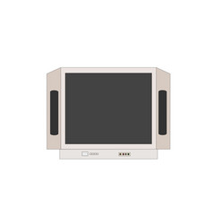 lcd television device icon vector image