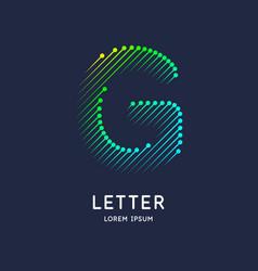 Letter g latin alphabet display vector
