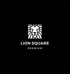 Lion square logo icon vector