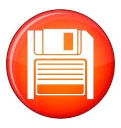 Magnetic diskette icon flat style vector
