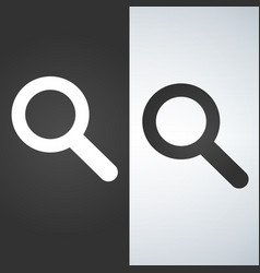 magnifying glass icon magnifier or loupe sign vector image