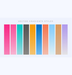 modern set of simple gradients set vector image