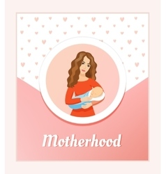 Motherhood and love conception Young beautiful vector