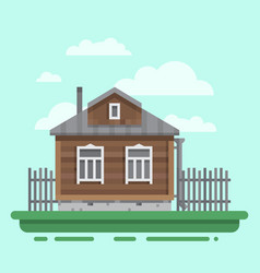 Old russian country house vector
