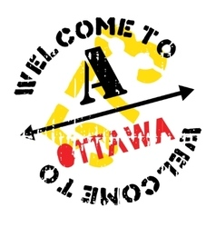 Ottawa stamp rubber grunge vector