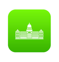 Palace of congress argentina icon digital green vector