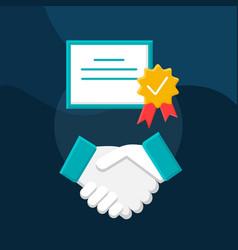 Partnership flat concept icon vector