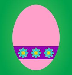 Pink easter egg vector image