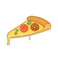 Pizza slice icon cartoon style vector