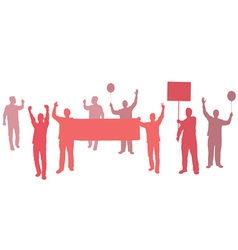 protest with banners for your text vector image